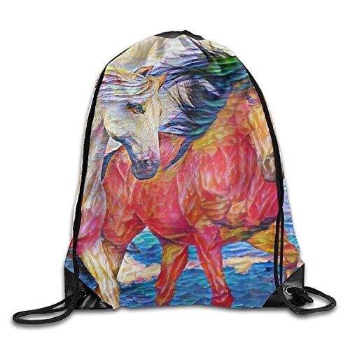 HAAUT M'Erica Colorado State Flag Port Bag Drawstring Backpack