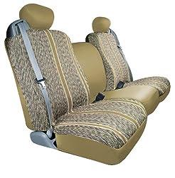 Saddleman Front Bucket Custom Made Seat Covers - Saddle Blanket Fabric (Tan)