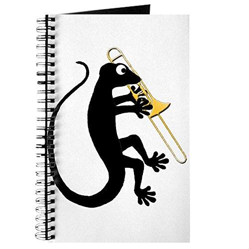 CafePress - Gecko Posaune - Spiralgebundenes Tagebuch, persönliches Tagebuch, liniert