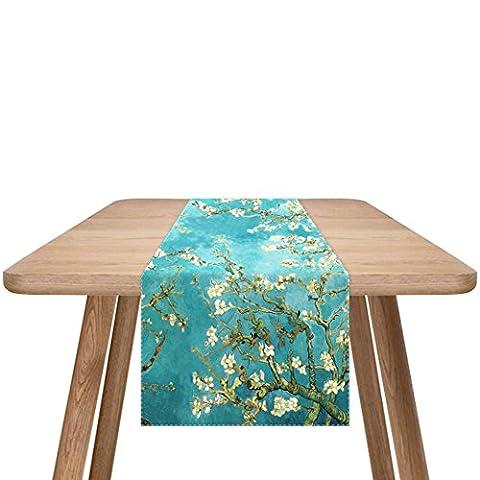 Moderne Minimalistische Leinen-tischfahne,European-style Coffee Table Runner,American Pastoral Japanischen Tisch Tisch Flagge-A 33x180cm(13x71inch)