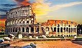 ZZXSY Jouets Bois Puzzle 1000 Pieces Paysage De La Ville De Rome Puzzle Jouet en Bois Cadeau Unique Décoration Intérieure
