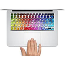 """MacBook adhesivo con teclado Reino Unido Estilo colores MacBook Air, MacBook Pro Keyboard Skin para MacBook Air de teclas teclado de vinilo adhesivo para MacBook Pro/Air de 13"""", 15"""" y 17""""..."""