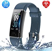 HolyHigh Fitness Band Heart Rate & Sleep Monitor Smart Band with Call Whatsapp Messages Alert Digital Watc