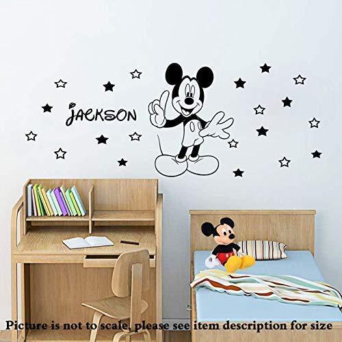 Disney Mickey Mouse abnehmbare Vinyl Wandaufkleber personalisierte Wandgemälde jungen Kinderzimmer Wandtattoo Home Decor 20 Sterne D1