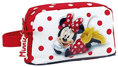Minnie 811748859 Mouse Neceser, 22 cm, Rojo y Blanco