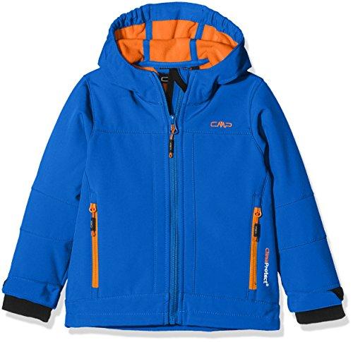 Cmp 3a00094, giacca softshell bambino, zaffiro/aperol, 104