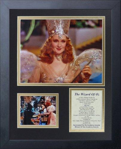 Legenden Sterben Nie Der Zauberer von Oz Glinda gerahmtes Foto Collage, 11x 35,6cm