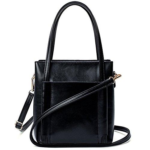 Meoaeo 2017 Neue Match Youpi Handtasche Mode Schulter Messenger Bag Schwarz black