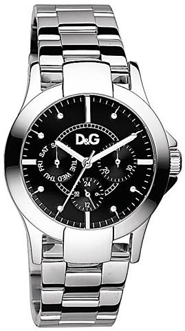 D&G Dolce & Gabbana DW0544 - Reloj para mujeres, correa de acero inoxidable chapado color plateado