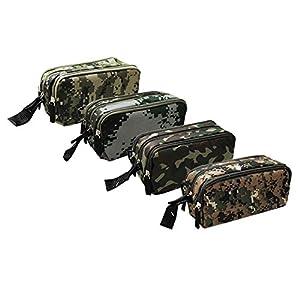 170105 – Estuche de camuflaje militar con 3 cremalleras, cuatro diseños a elegir (Militar 4)