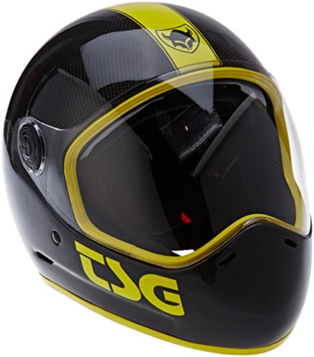 TSG Pass Pro Carbon Graphic Design - Casco para longboard, color negro, talla L