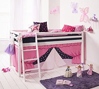 Noa and Nani Cabin Bed with ShowTime Tent in White with Tent 578WG-SHOWTIME