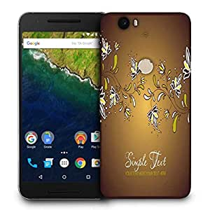 Snoogg Simple Text Printed Protective Phone Back Case Cover For LG Google Nexus 6P