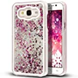 mobbysol™ Samsung Galaxy J2(2015)- Liquid 3D Bling Glitter Star Cover Flowing Liquid With Glitter Star, Bling Hard Case Back Cover for Samsung Galax