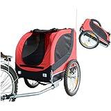 Hundeanhänger Fahrradanhänger Hunde Fahrrad Anhänger Rot/Schwarz NEU