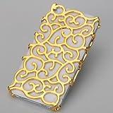 Coque Housse bijoux Platine Design Original Fleur De Palais Baroque Iphone 5 - DORE
