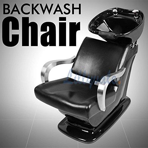 Hair Washing Backwash Unit Back wash Salon Barber Chair Hairdressing Shampoo Barcelona Black