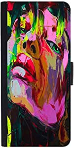 Snoogg Shyla Painting Graphic Snap On Hard Back Leather + Pc Flip Cover Apple...