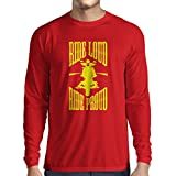 N4695L T-Shirt mit Langen Ärmeln Ride Loud! (X-Large Rot Mehrfarben)