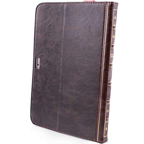 HSRpro Buch Vintage Hülle für Samsung P5100 Galaxy Tab 2 10.1