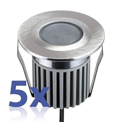 Led Einbauleuchte Von Parlat 1 Power-led Warm-wei Aluminium Wasserdicht 12 Volt Ac 5 Stck Packung von LEDs Com GmbH