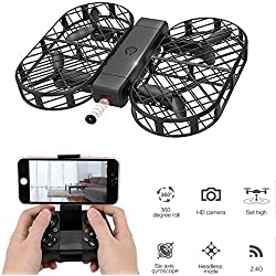 YMXLJJ Drone Pieghevole Drone RC Con Telecamera 720P FPV Controllo Wifi 2.4G 4CH Giroscopio A 6 Assi Altezza, Modalità Senza Testa, Rotolo 3D, Impostazione Della Pressione Dell'aria