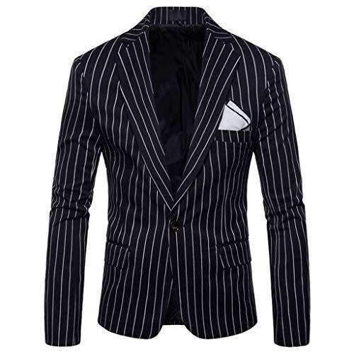 Dwevkeful Anzug Herren Casual Stripedbusiness Hochzeitsanzug Revers Slim Fit Outwear Blazer Coat BüRo Hochzeit Business