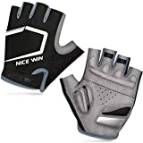 LOHOTEK Half-Finger Sports Gloves (Nero, M)