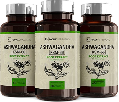 Ashwagandha KSM-66 300mg - 60 Capsules | HIGH POTENCY ASHWAGANDHA EXTRACT |  Immune and Stress Support | Manufactured in the UK in ISO Licensed