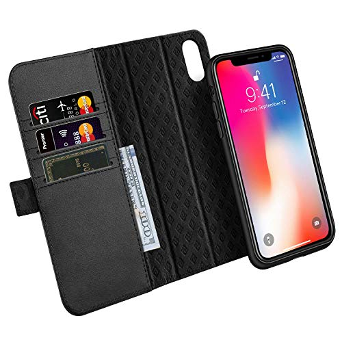ZOVER Cover iPhone XS, Custodia iPhone X, Cover in Pelle...