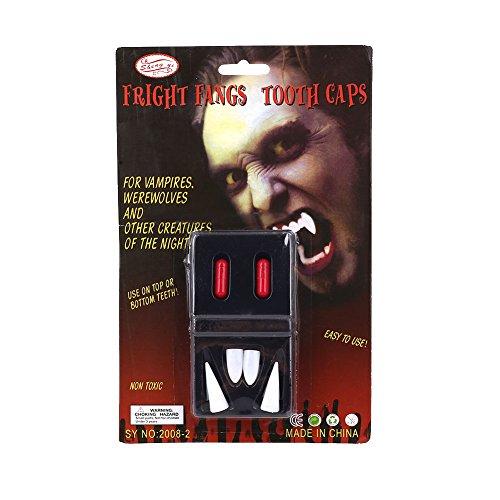 Fenghong Halloween Vampirzähne, Halloween Vampirzähne Zähne Dracula Erwachsene Kinder Cosplay Kostüm Prop Zubehör (Kostüm Dracula Erwachsene)