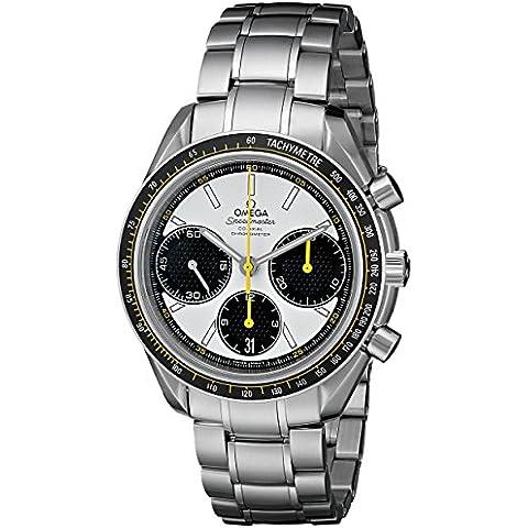 Omega Speedmaster Racing Co-axial con esfera blanca de acero inoxidable reloj de los hombres