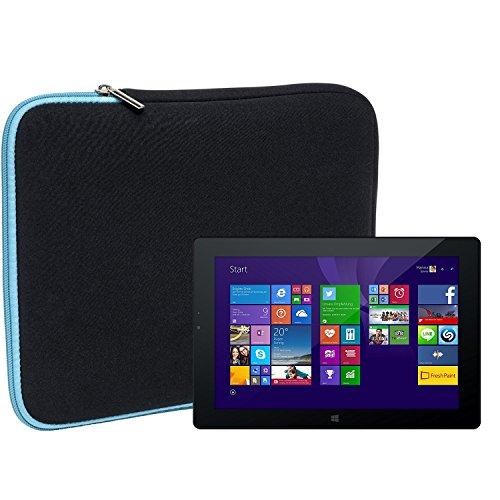 Slabo Tablet Tasche Schutzhülle für Odys WinPad V10 Hülle Etui Case Phablet aus Neopren – TÜRKIS/SCHWARZ