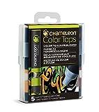 Chameleon Art Products - 5 Color Tops - Accessoires Chameleon pour des dégradés de Couleurs; Tons Terres