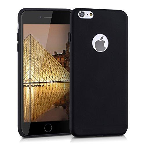 kwmobile Hülle für Apple iPhone 6 Plus / 6S Plus - TPU Silikon Backcover Case Handy Schutzhülle - Cover Metallic Rosegold .Schwarz logo