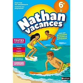 Cahier de Vacances 2019 de la 6ème vers la 5ème, toutes les matières - Nathan Vacances