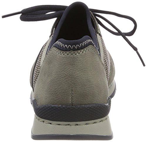 Rieker 19400, Sneakers Basses Homme Gris (Cement/dust/navy)