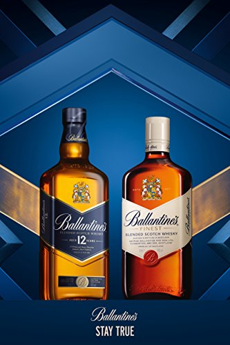 Ballantines Finest Blended Scotch Whisky - Milder Blend aus schottischen Malt & Grain Whiskys - Mit zartem Geschmack, ausgereiftem Aroma & frischem Abgang - 1 x 0,7 L