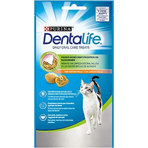 Purina DentaLife Snack Dental para Gato con Sabor a Pollo 8 x 40 g - 1 Pack