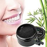 Natürliches Aktivkohle Zahnweiß Pulver mit Bambuszahnbürste Für Stärkere Gesunde Weißere Zähne