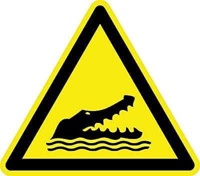 Warnzeichen - Warnung vor Alligatoren - Aluminium