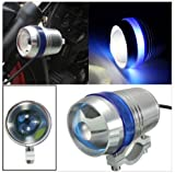 #7: AutoSun U3 Universal Fog Projector Light For All Bikes Set Of 2 (Blue)