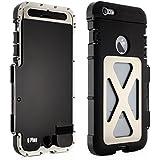 Alienwork Metal Gear Schutzhülle für iPhone 6 Plus/6s Plus Stoßfest Hülle Case Bumper Ständer Edelstahl schwarz AP6P12-03
