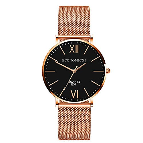 Uhren Damen Sportuhr Frauen Quarz Armbanduhr Uhr Damen Kleid Geschenk Uhren Retro Armbanduhr Mode Uhrenarmband Watch PU Lederband Watch ABsoar