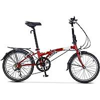XMIMI Bicicleta Plegable Desplazamiento Hombres y Mujeres Adultos Bicicleta de Ocio 20 Pulgadas 6 velocidades