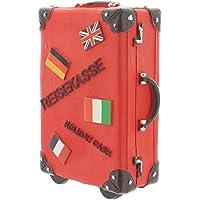 Spardose Reisekoffer Keramik Koffer Sparschwein Sparbüchse 15cmx11cm rot preisvergleich bei kinderzimmerdekopreise.eu