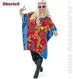 Hippie Sue 1tlg Damen Oberteil Damenkostüm Fasching Bigshirt Big - Shirt für starke Frauen große Groessen 54