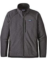 Patagonia Ms Performance Better Sweater Jkt Chaqueta, Hombre, Forge Grey w/Black,
