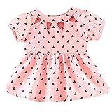CUTUDE Kleinkind Baby Mädchen Punkt Drucken Kurzarm Kleider Prinzessin Kleid Outfit Kleidung