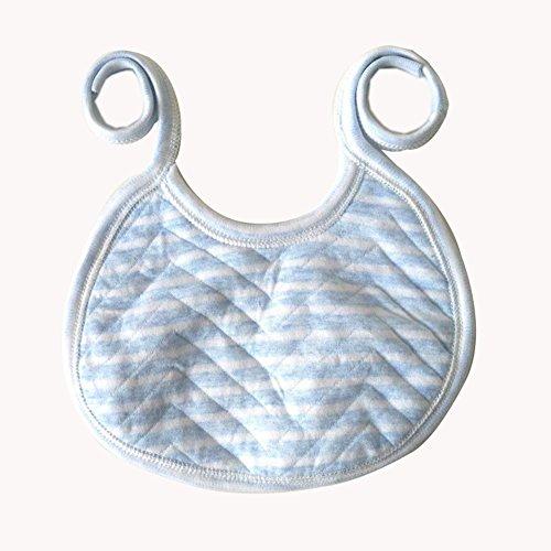 Demarkt 1pcs Coton bébé fournitures en gros bavoir bébé coton serviette salive nouveau-né coton imperméable enfants 7cm*14cm (Bleu Demarkt